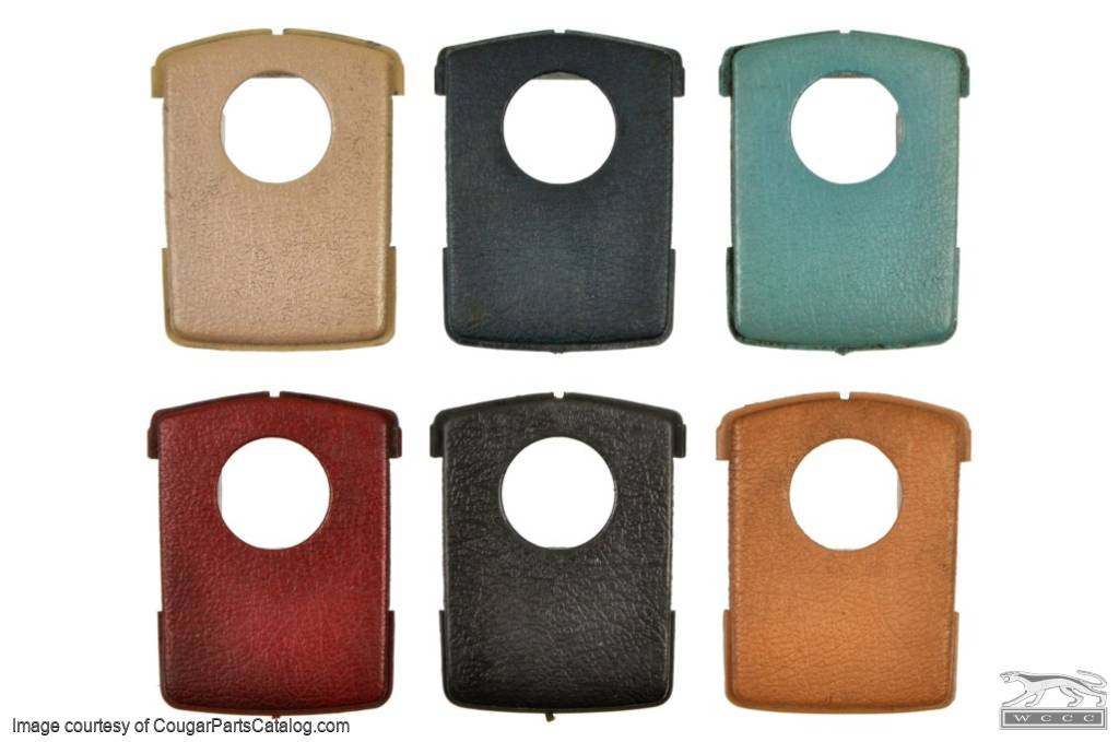Plastic Face Plate - Seat Belt Buckle Cover - COLORED - Used ~ 1968 - 1972 Mercury Cougar / 1968 - 1972 Ford Mustang - 14-0021