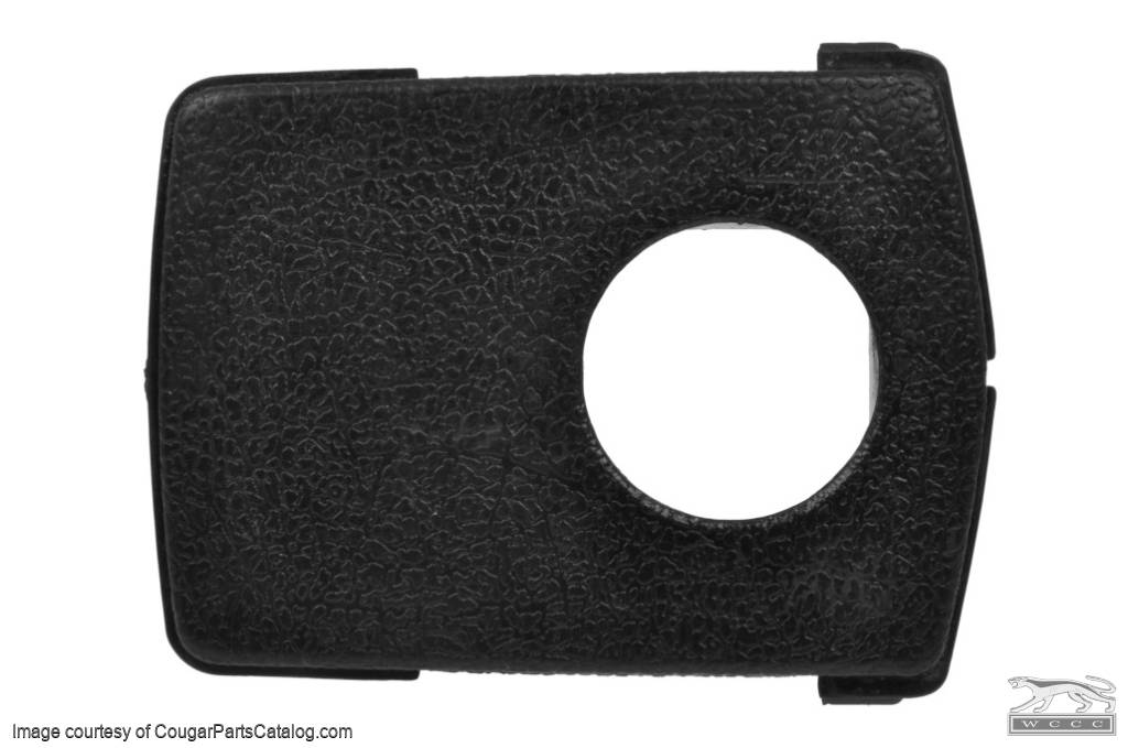 Plastic Face Plate - Insert - Seat Belt Buckle Cover - Used ~ 1968 - 1972 Mercury Cougar / 1968 - 1972 Ford Mustang - 14-0100