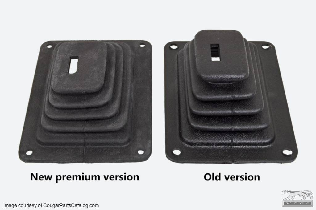 Shifter Boot - 4 Speed - Hurst - PREMIUM - Repro ~ 1970 Mercury Cougar / 1970 Ford Mustang - 14006