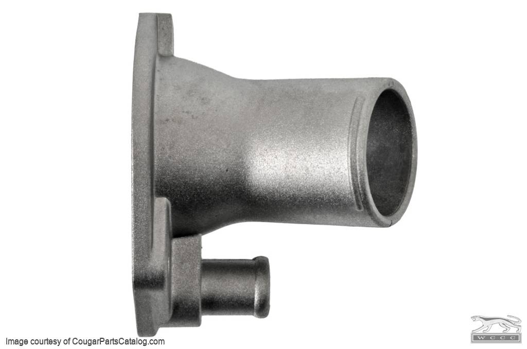 Thermostat Housing - 289 / 302 / 351W - NATURAL FINISH - Repro ~ 1967 - 1970 Mercury Cougar / 1965 - 1973 Ford Mustang - 14017