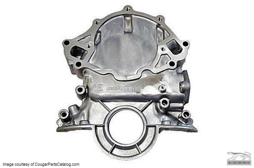 Timing Chain Cover - Small Block - Aluminum - PREMIUM - Repro - 1973 - Later Ford Mustang - 14103