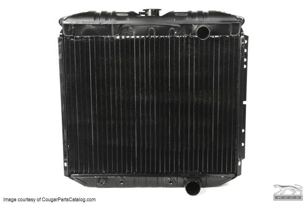 Radiator - 3 Core - 20 Inch - 289 / 302 / 351W - Repro ~ 1967 - 1969 Mercury Cougar / 1967 - 1969 Ford Mustang - 14723