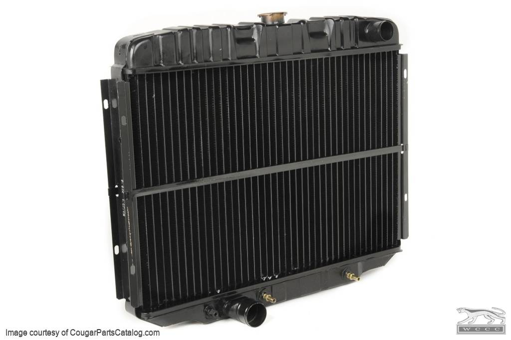 Radiator - 3 Core - 24 Inch - 390 / 427 / 428 / 1970 351 - Repro ~ 1967 - 1970 Mercury Cougar / 1967 - 1970 Ford Mustang - 14732