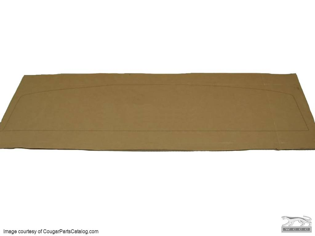 Template - Package Tray Cover Board - New ~ 1967 Mercury Cougar - 14736