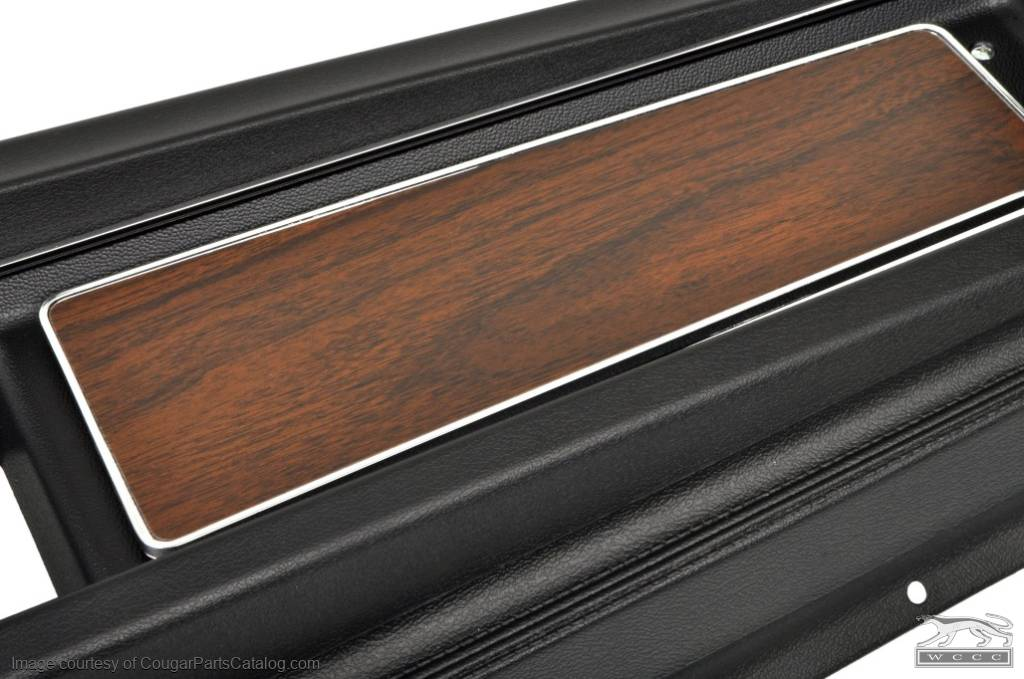 Center Console - w/ Woodgrain Insert - Flat Lid - Automatic Transmission - Repro ~ 1970 Mercury Cougar / 1970 Ford Mustang - 14763