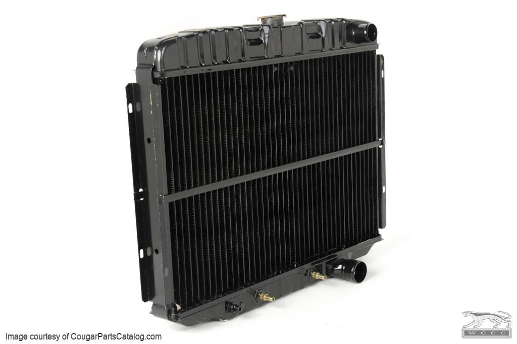 Radiator - 3 Core - 24 Inch - 289 / 302 / 351W - Repro ~ 1967 - 1969 Mercury Cougar / 1967 - 1969 Ford Mustang - 14953
