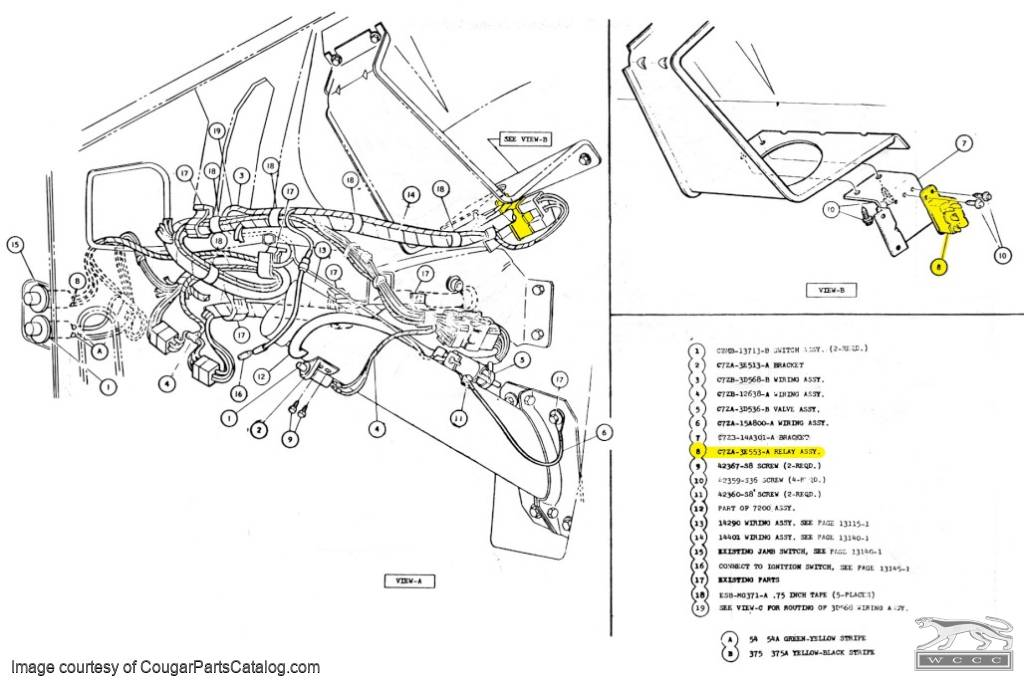 1968 ford mustang tilt away steering wiring diagram   51