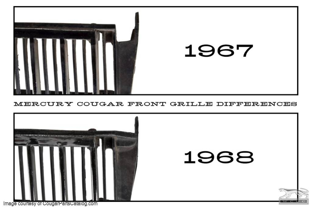 Grille Section - Passenger Side - Grade A - Used ~ 1967 Mercury Cougar - 15007