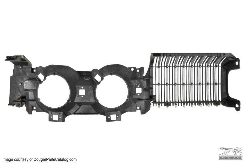 Grille Section - Driver Side - Grade A - Used ~ 1968 Mercury Cougar - 15009