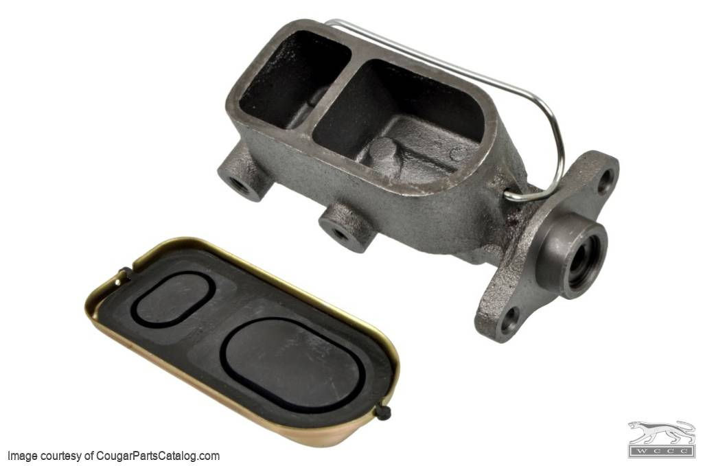Master Cylinder - Disc - Power Brake - ECONOMY - Repro ~ 1967 - 1972 Mercury Cougar / 1967 - 1972 Ford Mustang - 15298