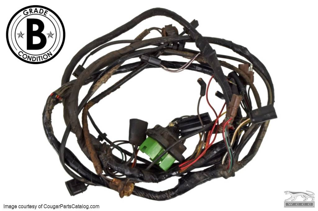Under Hood Wiring Harness - XR7 - Grade B - Used ~ 1969 Mercury Cougar - 15373