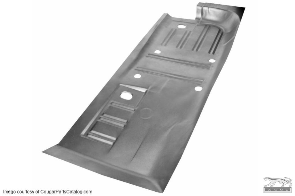 Full Length Floor Pan - Convertible - Passenger Side - Repro ~ 1969 - 1973 Mercury Cougar