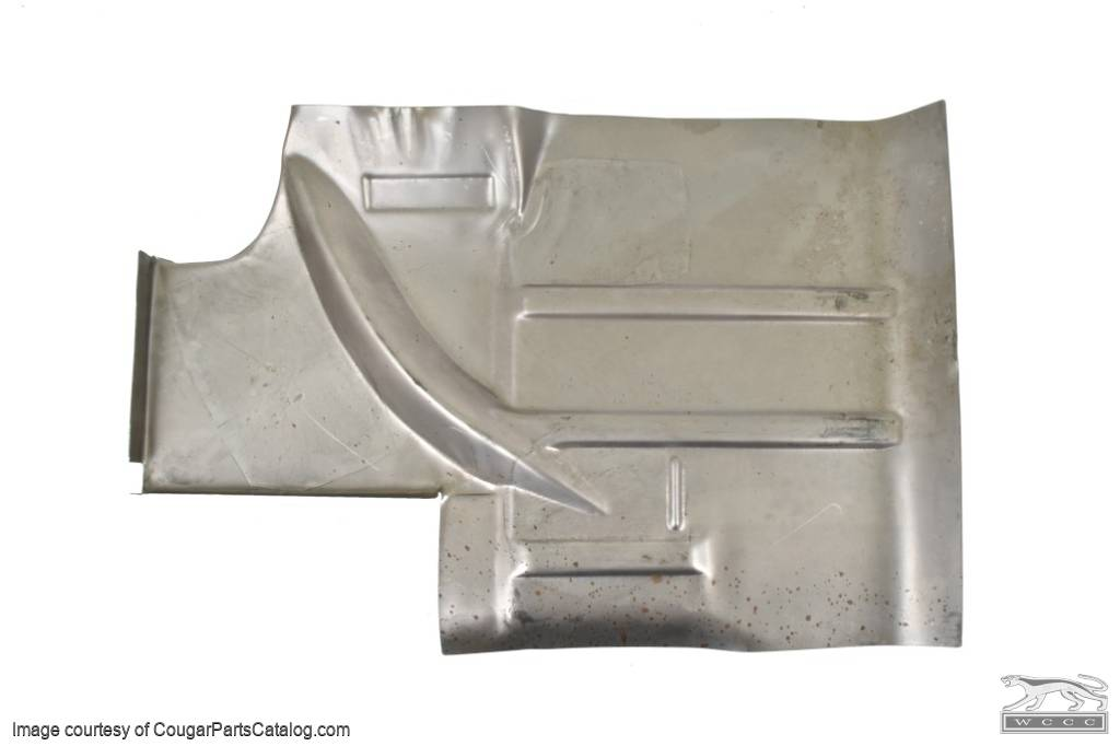 Rear Extended Floor Pan - Passenger Side - Repro ~ 1967 - 1968 Mercury Cougar / 1967 - 1968 Ford Mustang - 15485