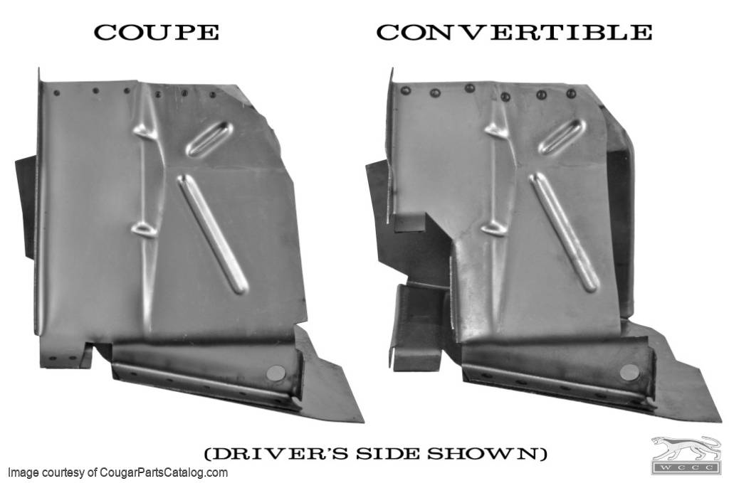 Torque Box - Coupe - Driver Side - Repro ~ 1967 - 1970 Mercury Cougar / 1967 - 1970 Ford Mustang  - 15492
