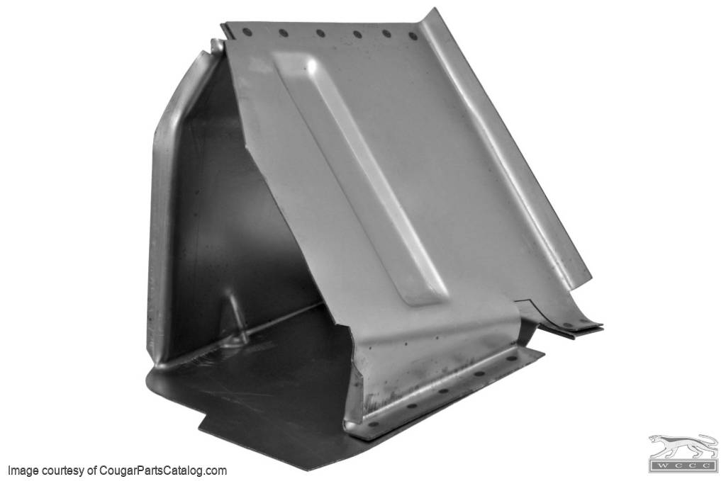 Torque Box - Coupe - Passenger Side - Repro ~ 1967 - 1970 Mercury Cougar / 1967 - 1970 Ford Mustang  - 15493