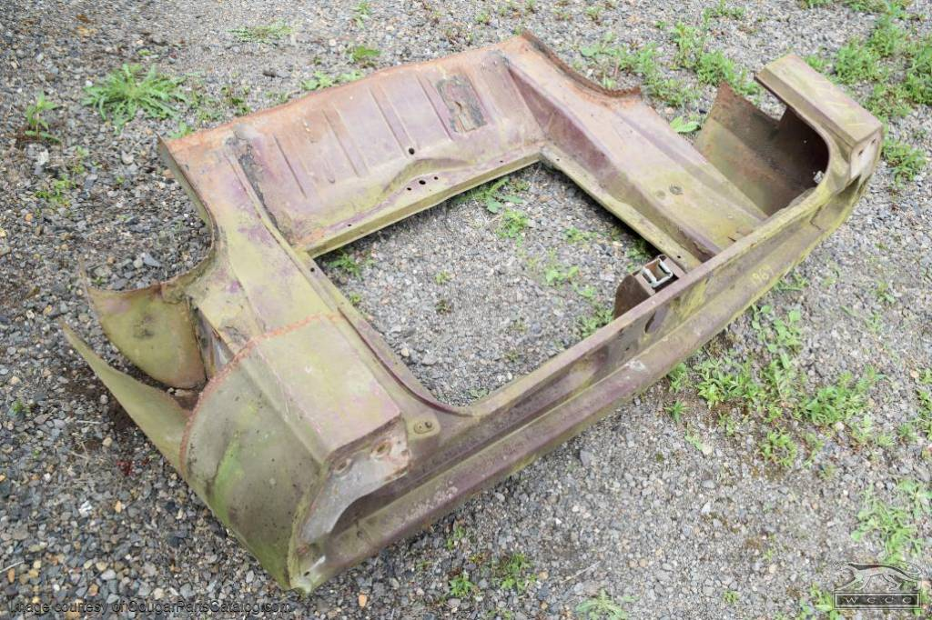 Trunk Floor - w/ Tail Panel - Used ~ 1969 Mercury Cougar - 15727