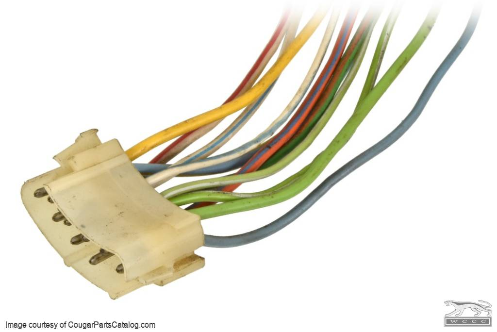 Wiring Pigtail - Under Dash Harness to Turn Signal Switch - Used for 1969  Mercury Cougar, 1970 Mercury Cougar at West Coast Classic Cougar :: The  Definitive 1967 - 1973 Mercury Cougar Parts Source  West Coast Classic Cougar