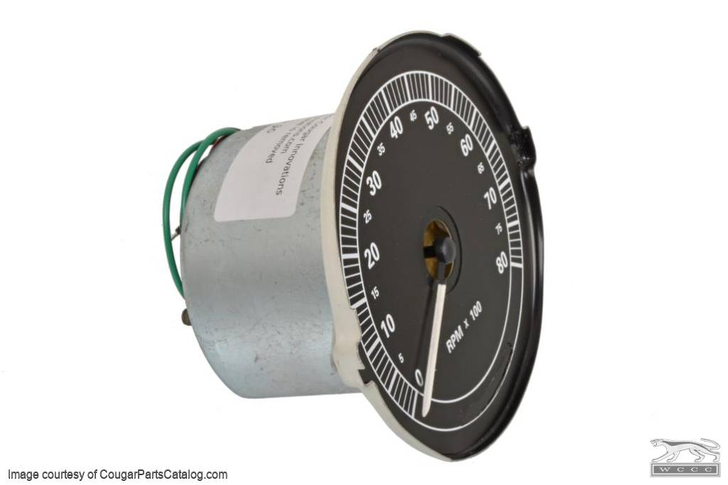 Tachometer - 8000 RPM - XR7 - New ~ 1967 - 1968 Mercury Cougar - 15773