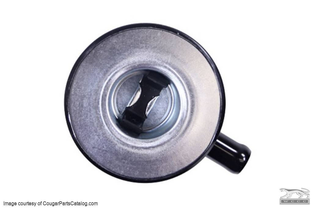Oil Cap - Push On - Black - Closed Emissions - Repro ~ 1967 - 1970 Mercury Cougar / 1967 - 1970 Ford Mustang - 15831