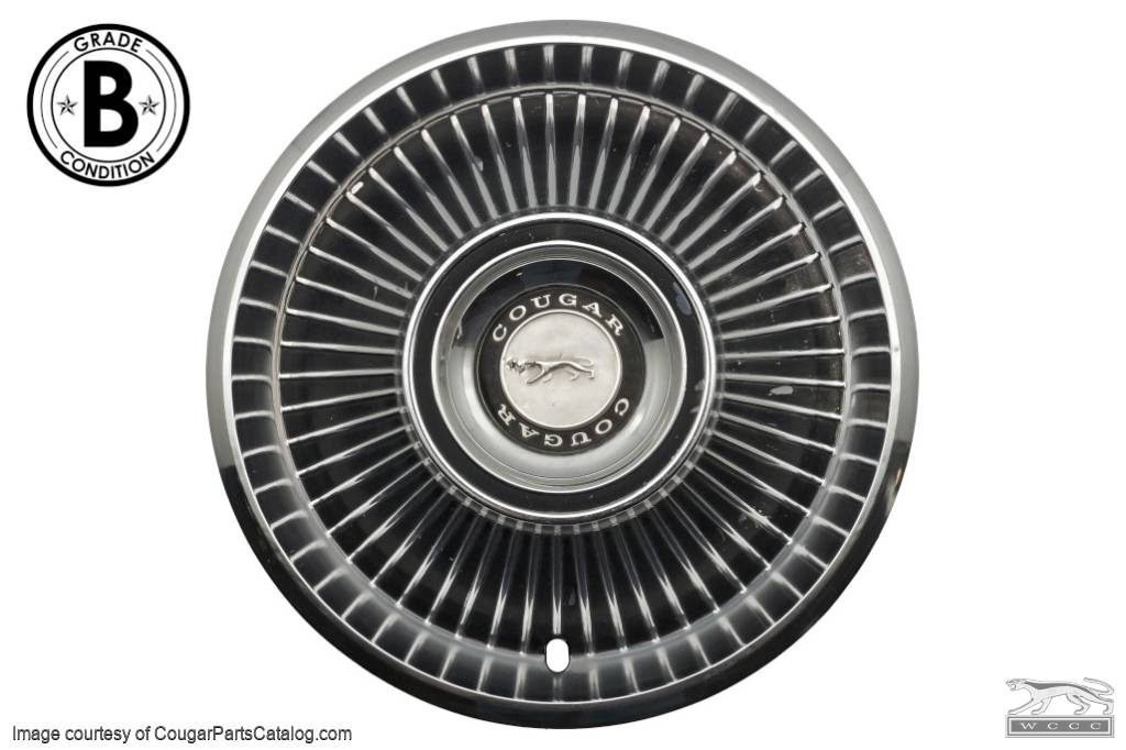 Hubcap / Wheel Cover - Standard - Grade B - Used ~ 1968 Mercury Cougar - 15851