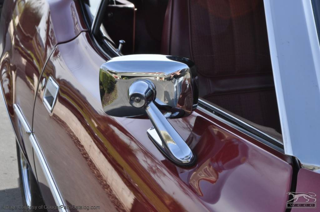 Side View Mirror - Chrome - Passenger Side - Used ~ 1971 - 1973 Mercury Cougar - 16201