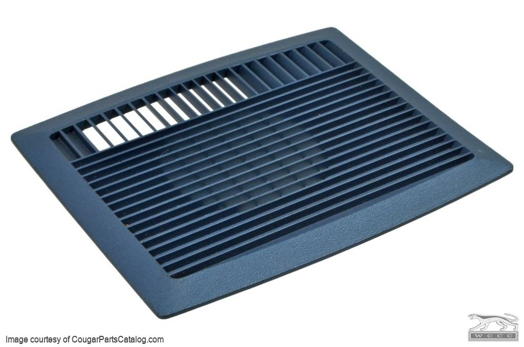 Fan Cover -  Rear Defog - Blue- Used ~ 1968 - 1970 Mercury Cougar / 1968 - 1970 Ford Mustang - 16788