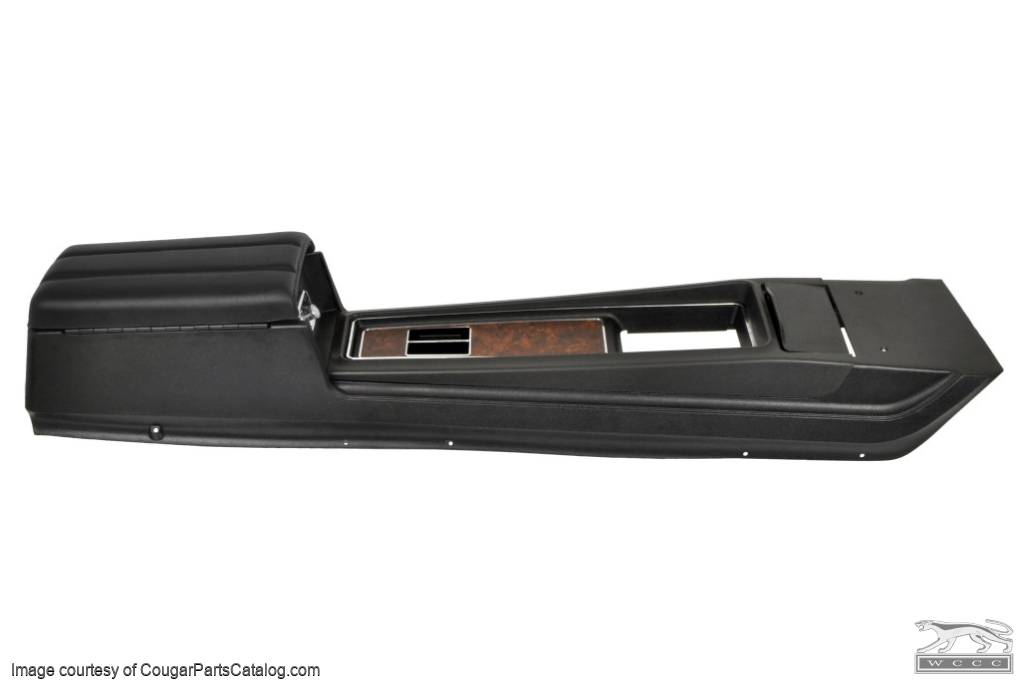 Center Console - Automatic Transmission - XR7- Burl Woodgrain - 3 Hump Lid - Repro ~ 1969 Mercury Cougar / 1969 Ford Mustang - 17783
