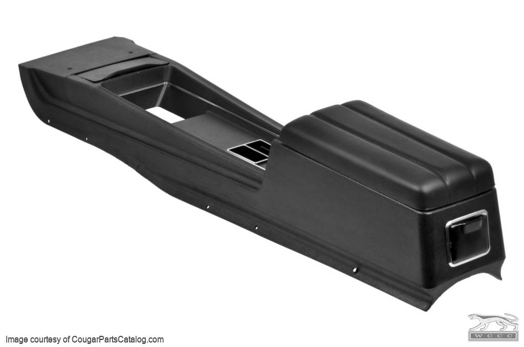 Center Console - Manual Transmission - without Insert - Three Hump Lid - Repro ~ 1969 Mercury Cougar / 1969 Ford Mustang - 17785