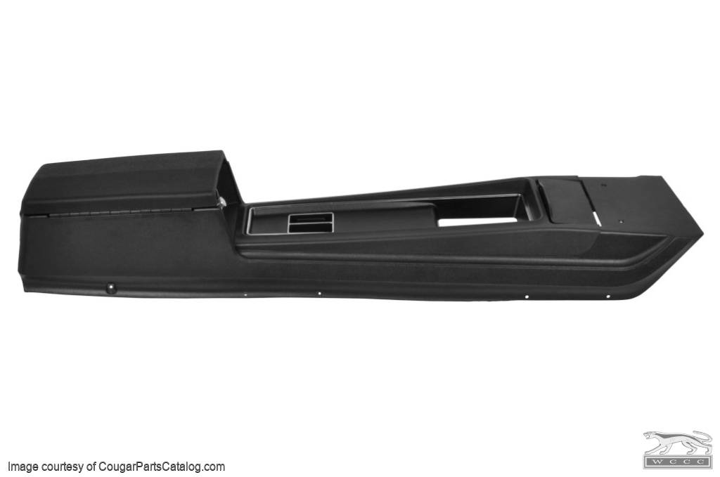 Center Console - Manual Transmission - without Insert - Flat Lid - Repro ~ 1969 Mercury Cougar / 1969 Ford Mustang - 17786