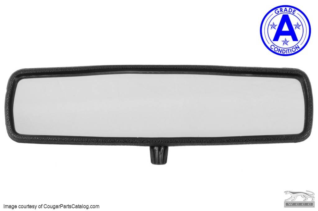 Rear View Mirror Assembly - Interior - Grade A - Used ~ 1967 Mercury Cougar / 1967 Ford Mustang - 18514