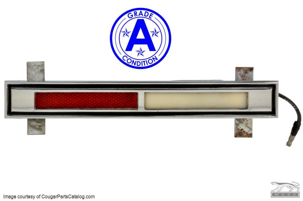 Courtesy Light Assembly - Door - Driver Side - Grade A - Used ~ 1967 - 1968 Mercury Cougar - 18660