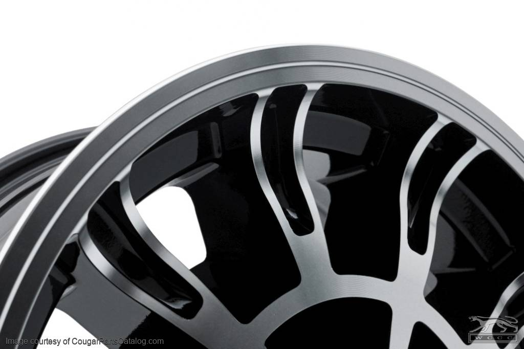 Legendary 1966 Shelby - Black Accent - 10 Spoke - 15 X 7 - Repro ~ 1967 - 1973 Mercury Cougar / 1967 - 1973 Ford Mustang - 18889
