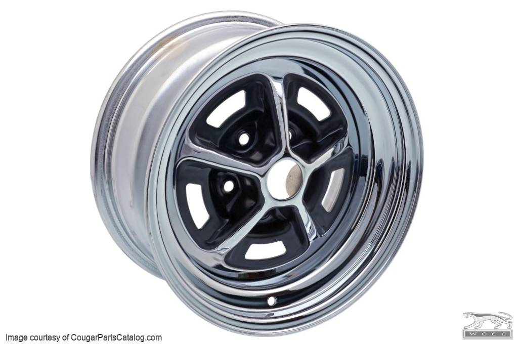 Magnum 500 Wheel - 15 X 8 Inch - Repro ~ 1967 - 1973 Mercury Cougar / 1967 - 1973 Ford Mustang - 18944