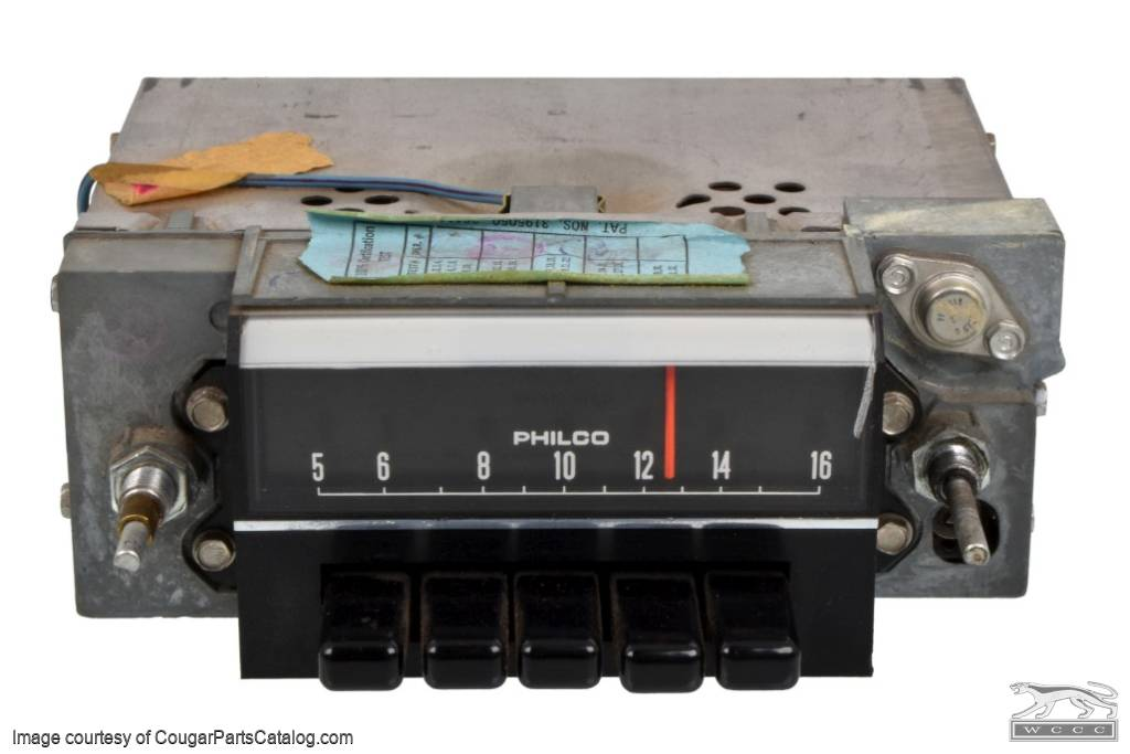 Radio - AM - Non-Functional - Used ~ 1968 Mercury Cougar / 1968 Ford Mustang - 11705