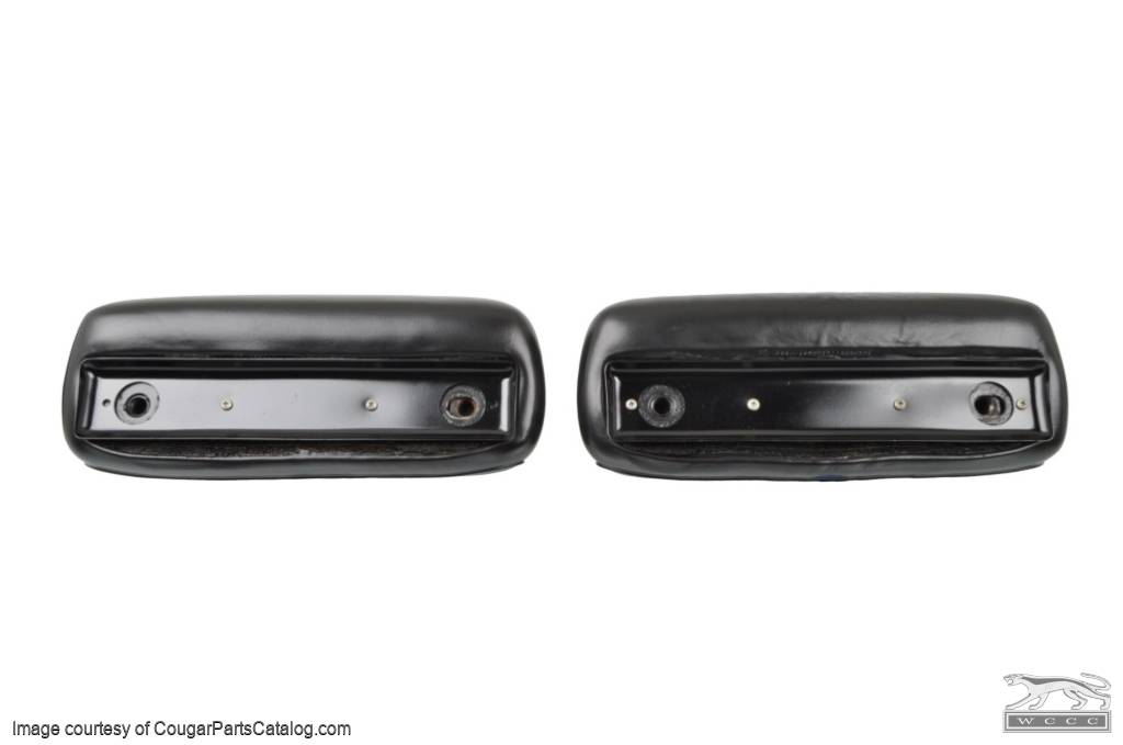 Head Rest - Dual Post - Assembly - PAIR - Used ~ 1968 Mercury Cougar / 1968 Ford Mustang - 19255