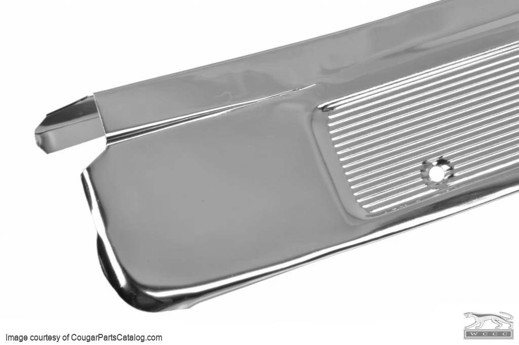 Door Sill Scuff Plate - ECONOMY - EACH - Repro ~ 1969 - 1970 Mercury Cougar / 1969 - 1970 Ford Mustang - 19392