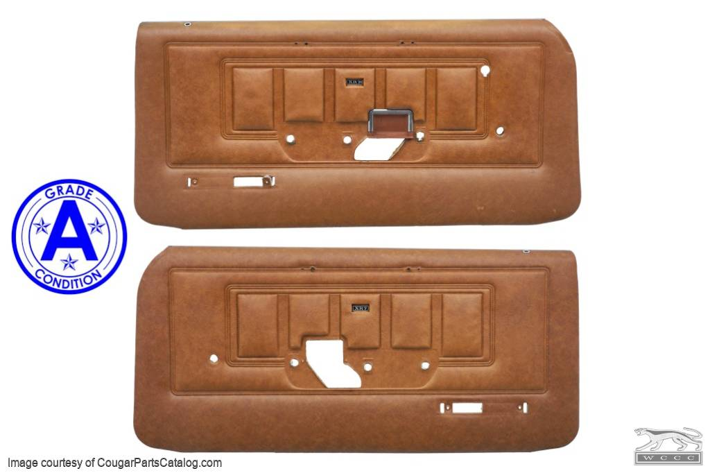 Door Panels - XR7 - PAIR - Grade A - Used ~ 1970 Mercury Cougar - 19620