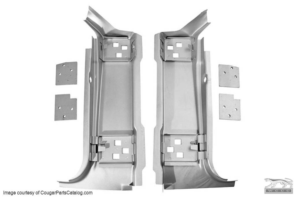 """A"" Pillar - Patch Panels - 6 Piece - Repro ~ 1967 - 1968 Mercury Cougar / 1967 - 1968 Ford Mustang - 19899"