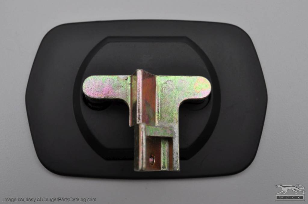 Lens Assembly - Side View Mirror - Sport - Passenger Side - Repro ~ 1969 - 1973 Mercury Cougar / 1969 - 1973 Ford Mustang / Torino - 13741