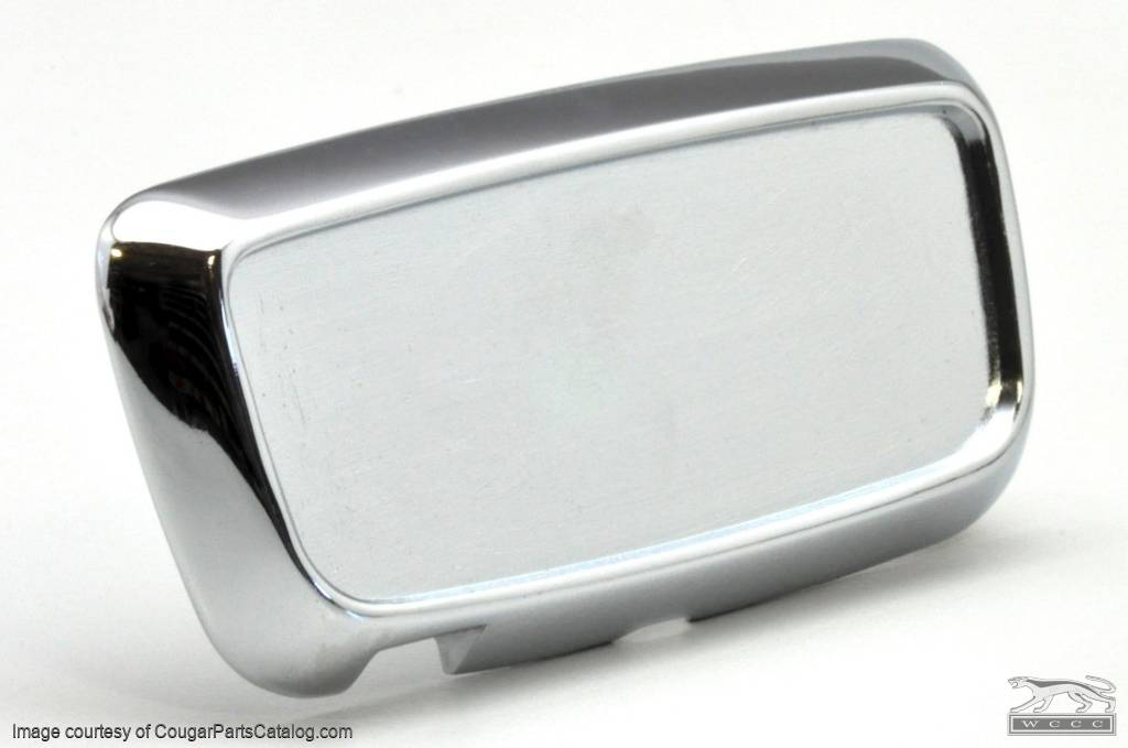 Trunk Lock Cover Plate - without Decal - Repro ~ 1967 - 1968 Mercury Cougar - 13780