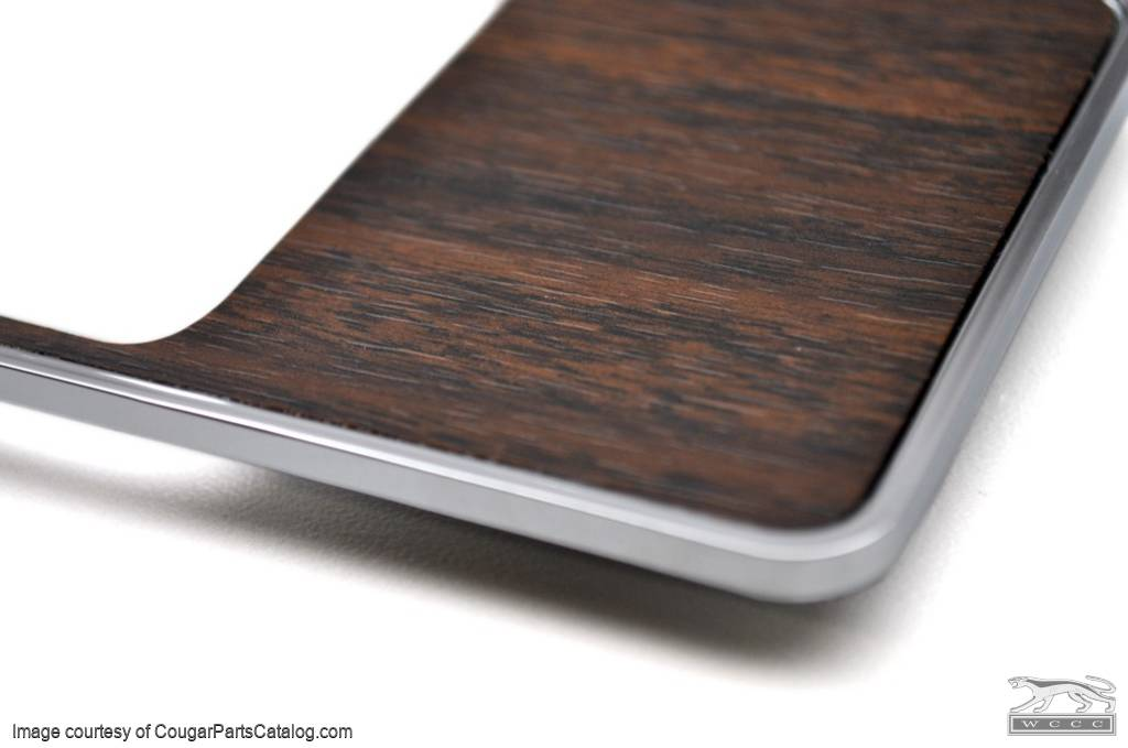 Center Console Insert - Straight Walnut Wood Grain - Repro ~ 1969 Mercury Cougar - 1969 Ford Mustang - 13819