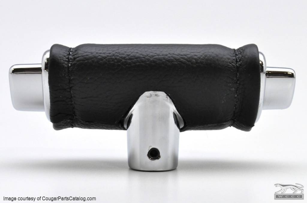 Shift Handle - Automatic Transmission - Genuine Leather Covered - Repro ~ 1967 - 1973 Mercury Cougar / 1967 - 1973 Ford Mustang - 13956