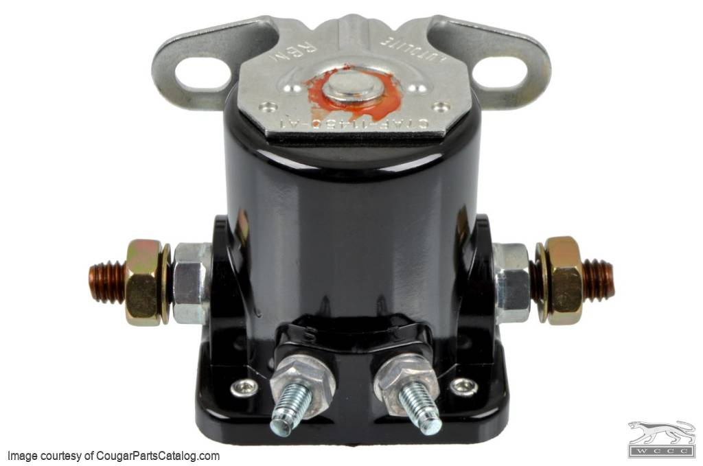 Relay - Starter Solenoid - CONCOURS CORRECT - 1967 Late+ - Repro ~ 1967 - 1971 Mercury Cougar - 13986