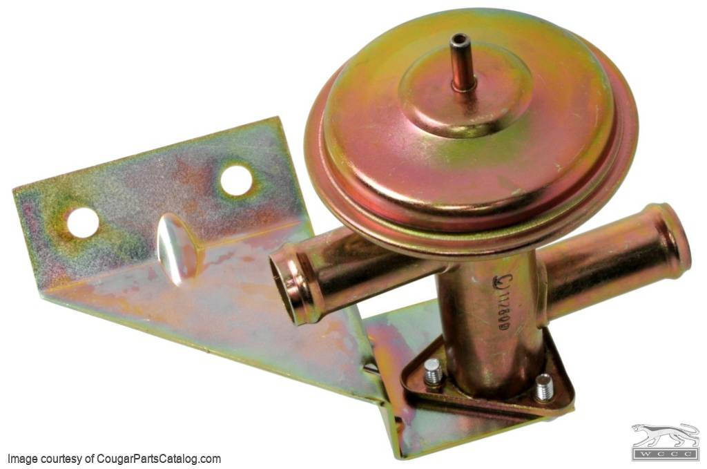 Valve - Heater Water Control - w/ A/C - Repro ~ 1967 - 1968 Mercury Cougar / 1967 - 1968 Ford Mustang - 13999