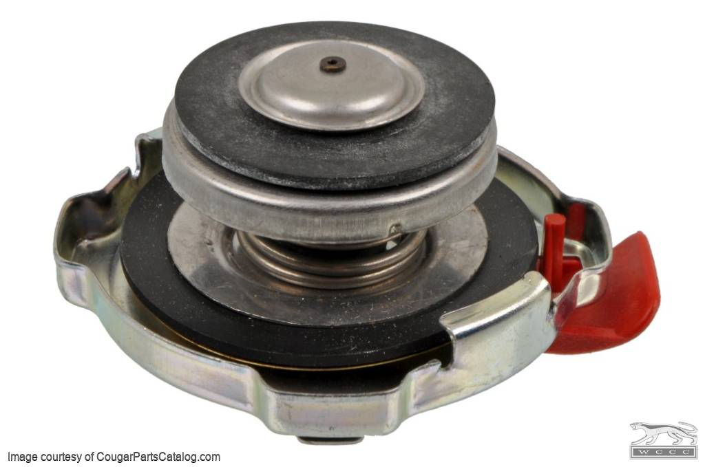 Radiator Cap - 13 lb - w/ Safety Release - GENERIC - New ~ 1967 - 1973 Mercury Cougar / 1967 - 1973 Ford Mustang - 14230