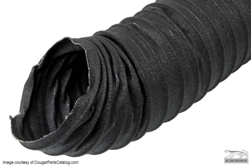 Duct Hose - Heater - Cloth - Premium - 2 Foot Length - Repro ~ 1967 - 1970 Mercury Cougar / 1967 - 1970 Ford Mustang - 14241