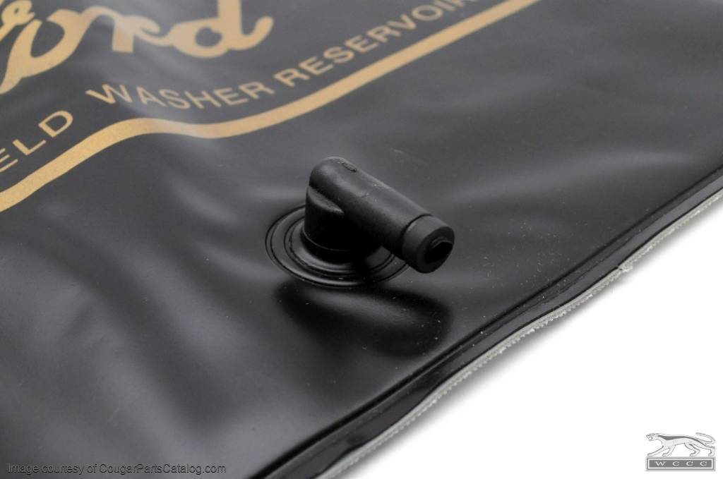 Windshield Washer - Reservoir Bag - Gold Logo - Repro ~ 1967 Mercury Cougar / 1967 Ford Mustang - 14308