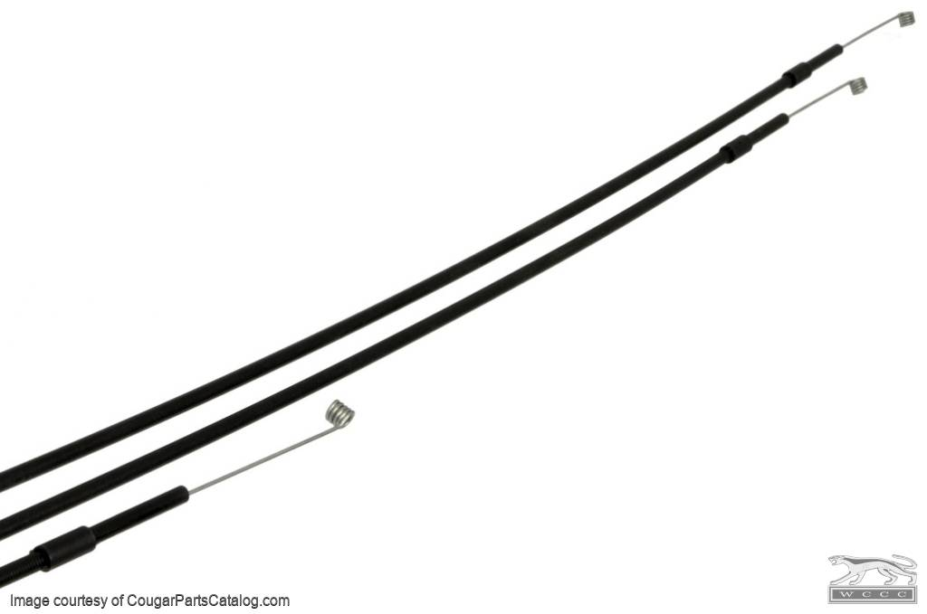 Cable Set - Heater - Non A/C - Set of 3 - Repro ~ 1967 - 1968 Mercury Cougar / 1967 - 1968 Ford Mustang - 14364