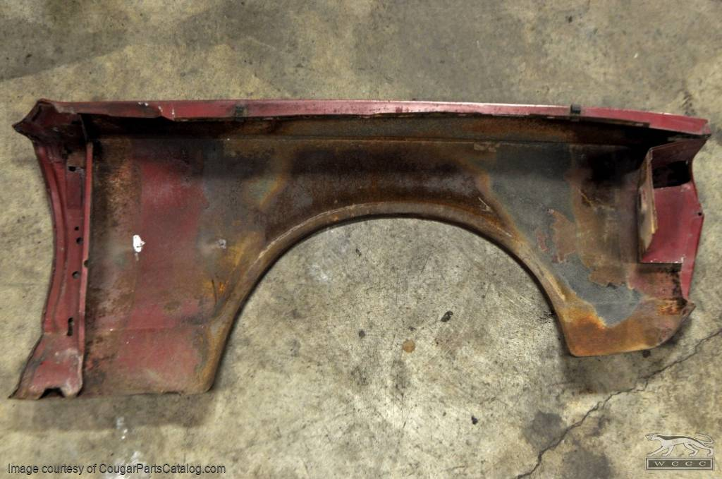 Fender - Driver Side - Grade A - Used ~ 1967 Mercury Cougar - 14519