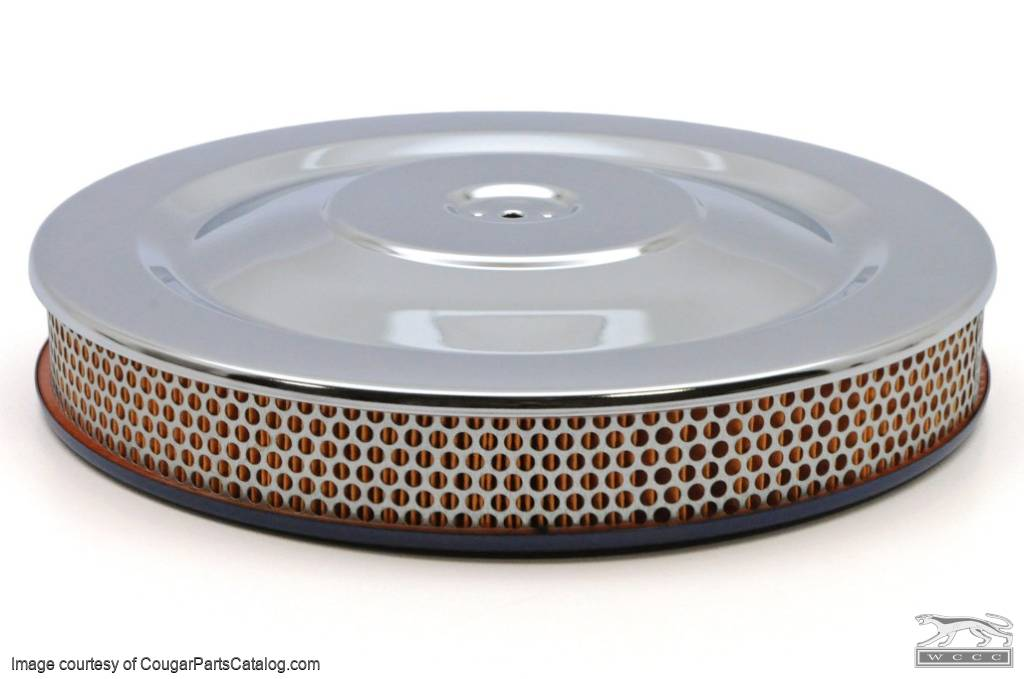 Air Cleaner Assembly - 427 GT-E - w/ Filter - PREMIUM - Repro ~ 1968 Mercury Cougar GT-E - 14897